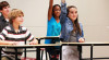 Stand-biased desk: Preventing obesity and improving school performance